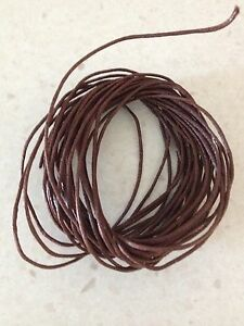 Waxed-Cotton-Cord-5-Metres-Brown-1-Mm-Thick-DIY-Necklace-Jewellery