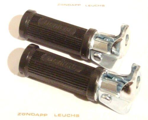 Zündapp Original Denfeld Sozius Fußrasten rund ZD 40 Typ 446