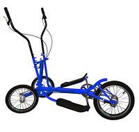 Blue Single 8 Aluminum Street Elliptical Bike Trainer Stable 3-wheel