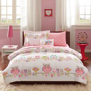 Image Is Loading Beautiful Modern Pink Blue Owl Polka Dot Flower