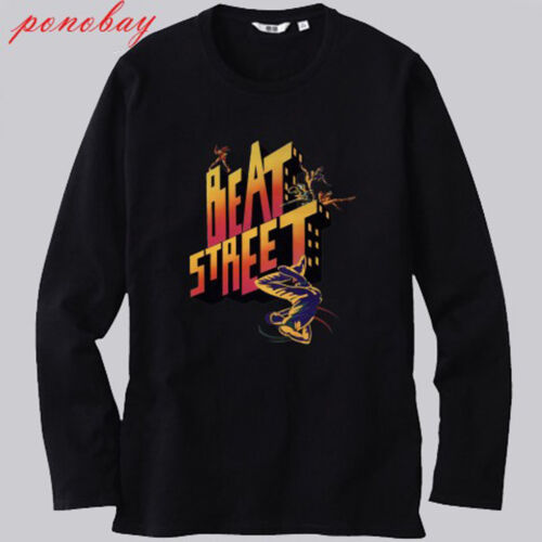 New Beat Street American 80s Drama Film Long Sleeve Black T-Shirt Size S to 3XL