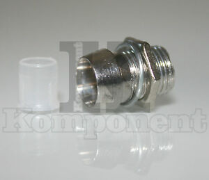 Porta-Led-in-metallo-cromato-per-LED-5mm-Portaled-10-pezzi