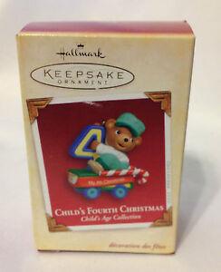HALLMARK KEEPSAKE ORNAMENT CHILD'S FOURTH CHRISTMAS ...