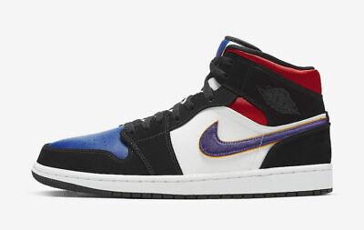 air jordan 1 mid black purple