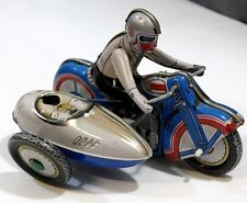 Original Vintage MS-709 Windup TIN TOY MOTORCYCLE with SIDECAR From China