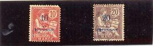 MARRUECOS-BUREAUX-FRANCAIS-YT-1911-17-N-29a-y-31a-NUEVO-y-USADO