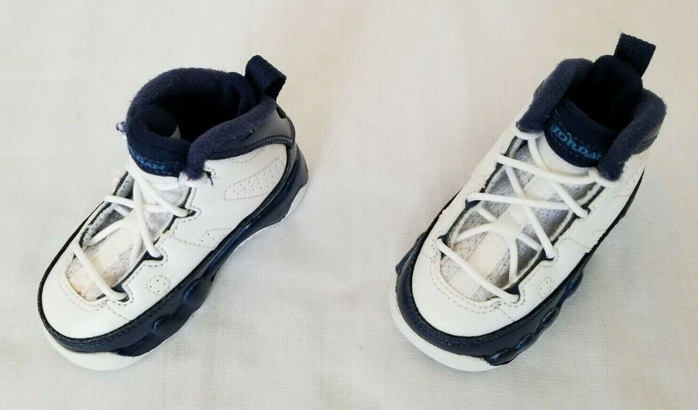 Nike Air Jordan 9 IX Retro Toddler White Blue Basketball Sneaker Shoes Size 10c