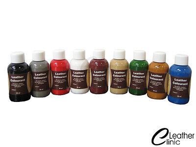 Lederfarbe Schuhfarbe Leder färben 74 Farben 50 ml + 25 ml Lederlack