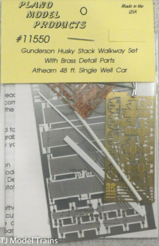 Plano HO #11550 Walkway Set for Gunderson Husky Stack w//Brass Details Parts