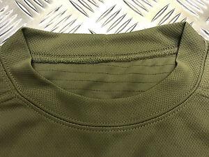 Genuine-British-Military-Mesh-T-Shirt-Anti-Static-Self-Wicking-Olive-Green-NEW