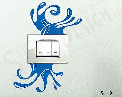 Adesivi Murali Wall Stickers Spruzzi D'acqua Adesivo splash Sticker Camera