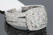 10K WHITE GOLD 1.10 CARAT WOMEN REAL DIAMOND ENGAGEMENT RING WEDDING RING BRIDAL