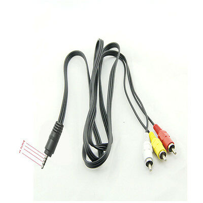 3.5mm Mini A/V to 3 RCA Male Adapter Audio Video Cable Stereo Jack Adapter EP