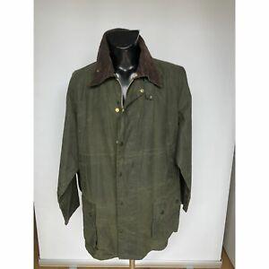Barbour-Giacca-Beaufort-verde-vintage-C52-132-cm-Green-Waxed-jacket