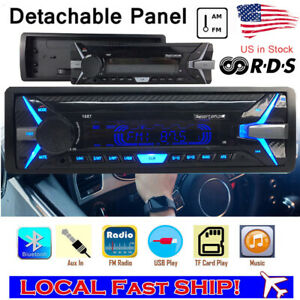 Car Radio BT Car MP3 Player Detachable Panel 1 Din RDS AM Auto Stereo FM