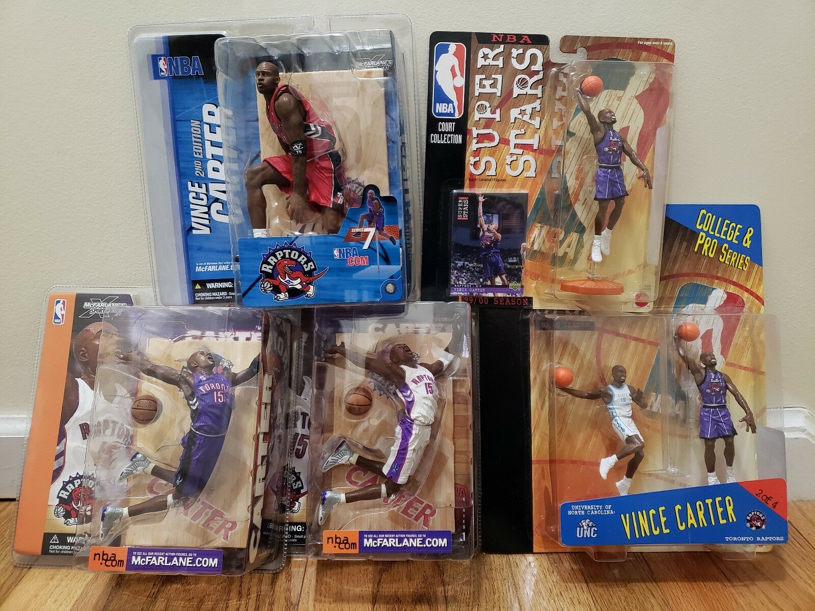Lot Of Vince Carter Mcfarlane starting Lineup Figures