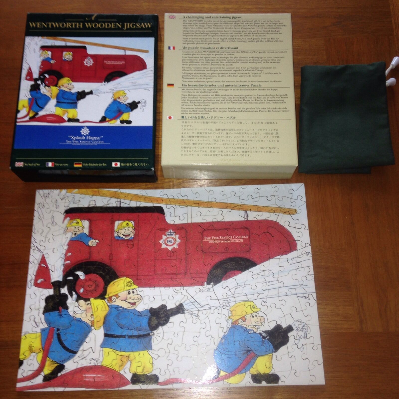 Wentworth Wooden Jigsaw Puzzle - SPLASH HAPPY - The Fire Service College - RARE