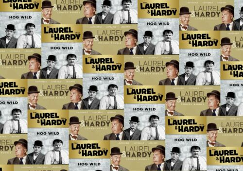 A2 or A3 film Stan Oliver Party fun adult New LAUREL /& HARDY Wrapping Paper A1