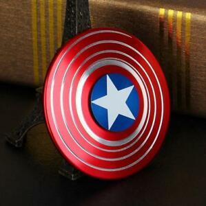 Captain America Shield Fidget Hand Spinner EDC Focus For Kids ADHD Autism Toys