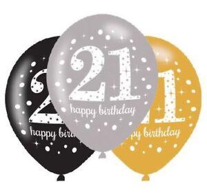 Gold-Celebration-21st-Latex-Balloons-11-034-6-pack