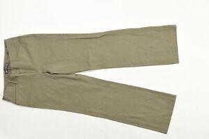 Women's Eddie Bauer 4 Dress Bootcut Pants Slightly Curvy Fit Brown Cotton