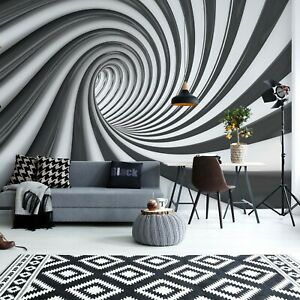 Mural Wallpaper 144x100inch Feature Photo Wall Black And White