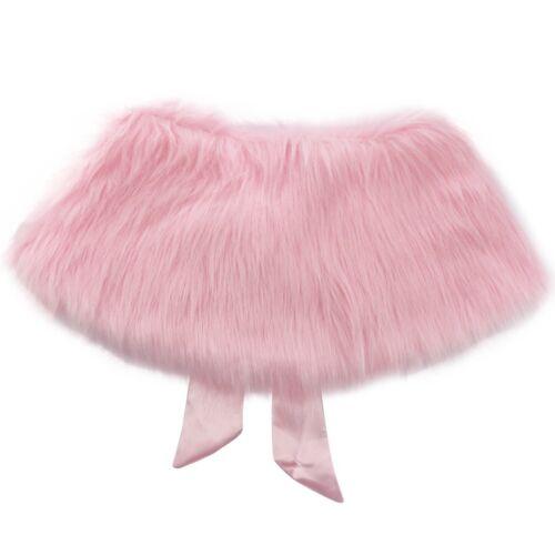 Girls Kids Faux Fur Bridal Wedding Jacket Wrap Shrug Bolero Shawl Cape Princess