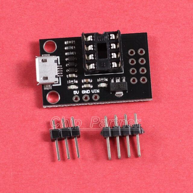 Development Programmer Board Micro USB for ATtiny13A ATtiny25 ATtiny45 ATtiny85