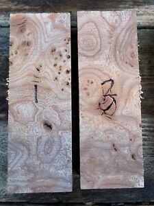 Burr / burl English elm knife scale / knife handle blocks / carving blocks