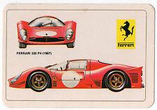 1986 portugués De Bolsillo Calendario con Le Mans Racing Car Ferrari 330 P4 & Logo