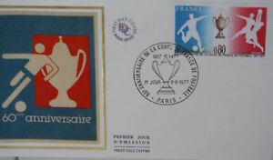 ENVELOPPE-PREMIER-JOUR-SOIE-1977-COUPE-DE-FOOTBALL