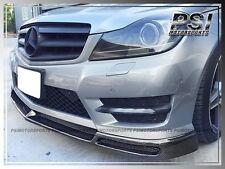 V Style Carbon Fiber Front Bumper Lip for 2012+ W204 C250 C300 C350 Sedan Coupe
