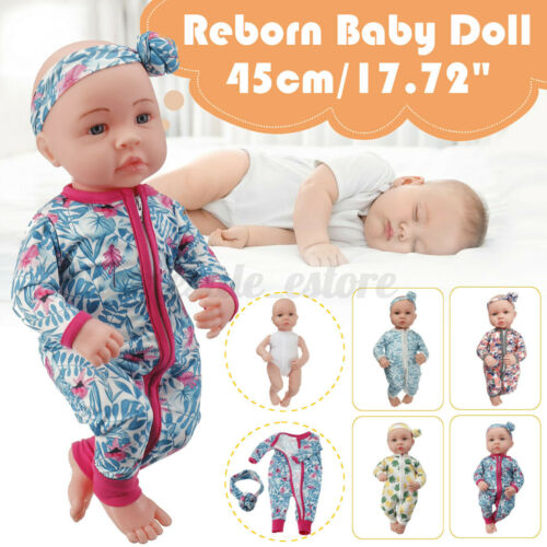 "1PC Real Life 18/"" Reborn Dolls Baby Newborn Realistic Soft Silicone Vinyl Toys"