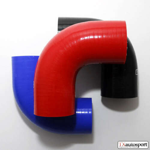 "3/"" 76 mm 4 plis Performance Silicone Tuyau 90 Degree Coude Bend refroidissement TX Bleu"