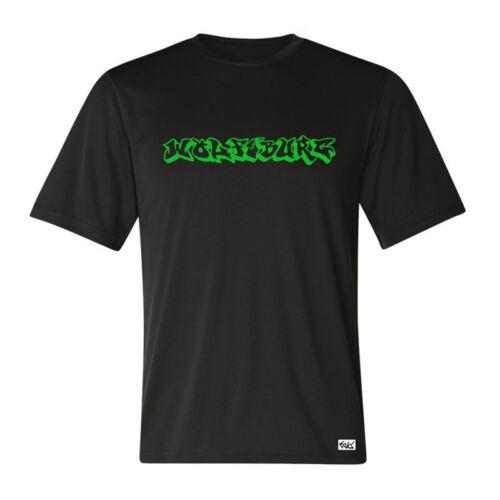 """Eaks ® T-Shirt Hommes /""""Wolfsburg Graffiti/"""" noir hip hop villes shirt football"""