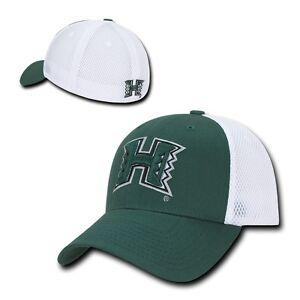 c210efa4 Image is loading NCAA-Hawaii-University-Rainbow-Warriors-Structured -Mesh-Flex-