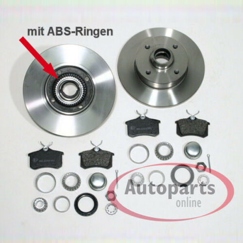 Bremsscheiben Bremsen Set ABS Ringe montiert für vorne hinten VW Corrado G60
