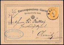 Österreich 1867 Korrespondenzkarte 2 Kreuzer Zweisprachig
