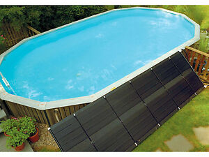 Details about Sunheater (2) 2\'x20\' Solar Panel Heating System Above Ground  Swimming Pool S241