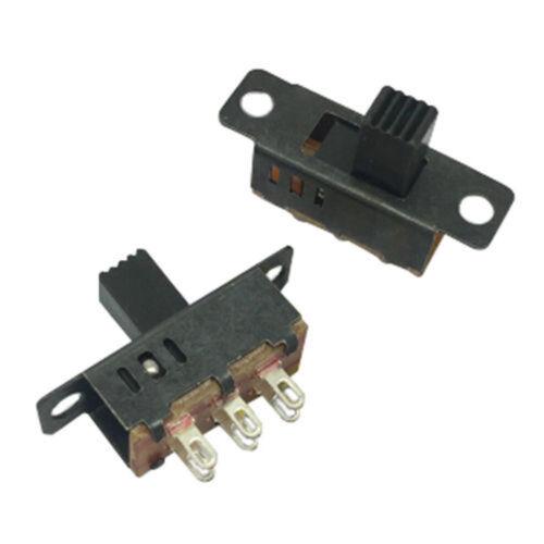 10Pcs High Knob 6 Pin 3 Position DPDT Panel Slide 0.5A 50V DC BAF