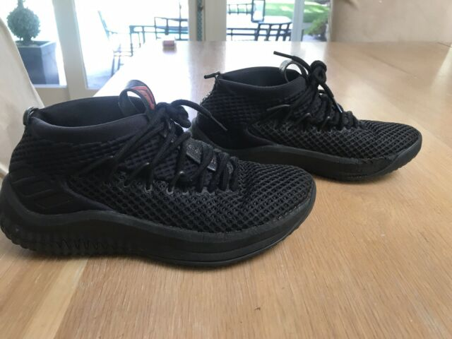 7464a46698253 Pre owned Adidas Dame 4 Black Grade school Basketball Shoes Size 5.5