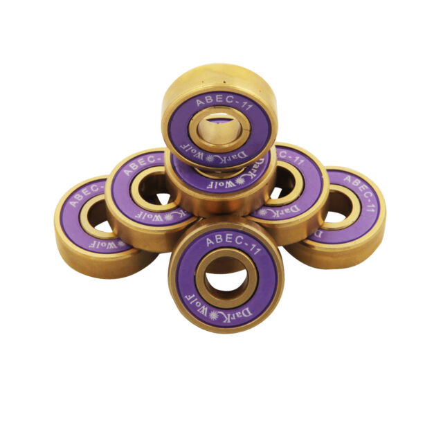 Tera UGIN 8 Stücke reibungsfreie Titan Kugellager für Skateboard ABEC-11 Lila