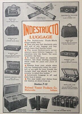 ~national Veneer Products Co Ind j33 Mishawaka Indestructo Luggage To Help Digest Greasy Food 1912 Ad