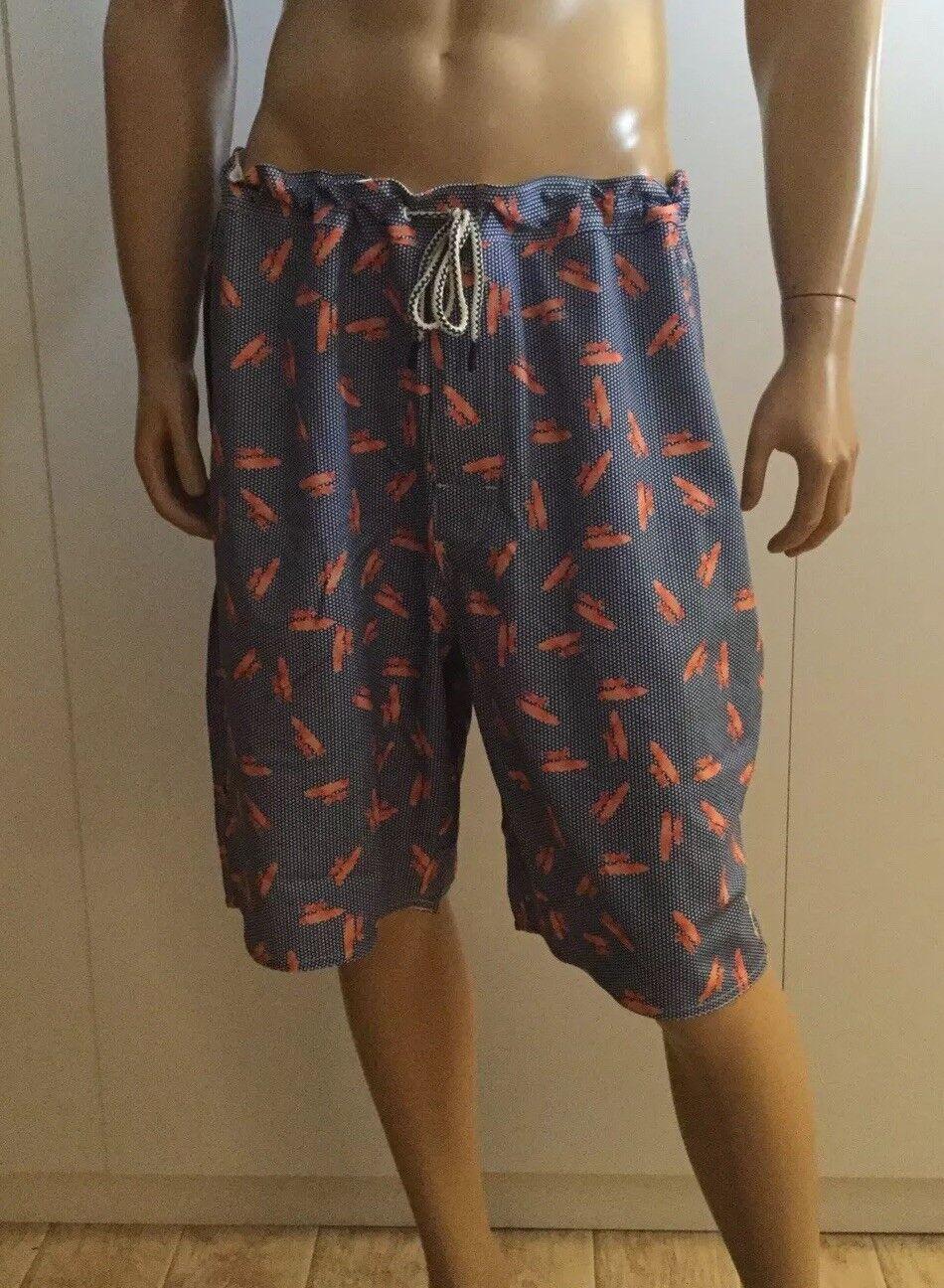 Johnnie-O  Elastic Board Shorts Swim Trunks Size 1XL