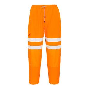 Abbigliamento Lavoro Portwest Hi Vis Pantaloni Uomo Arancione Tuta wBa8Xq4p