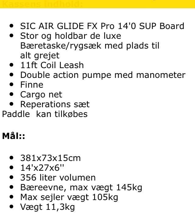 Board, SIC Air Glide FX Pro, str. 14*27*6