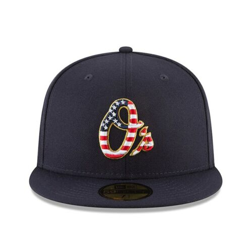 Baltimore Orioles New Era Navy 2018 Stars /& Stripes 4th of July On-Field 59FIFTY