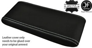 GREY-STITCHING-REAL-LEATHER-ARMREST-LID-COVER-FITS-PORSCHE-924-944-968