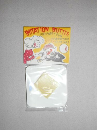 VINTAGE 1950/'s IMITATION BUTTER GAG TOY MARKED JAPAN OLD NEW STOCK!