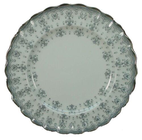 """SPODE china FLEUR DE LYS Y7515 Grey BREAD PLATE 6-1//2/"""""""